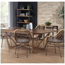 WENANTY american walnut colored extension dining table