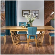 WENANTY honey oak colored extension dining table